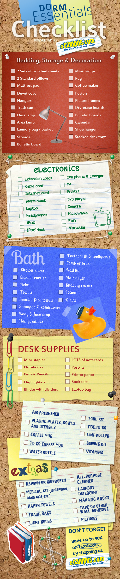 Dorm Room Checklist